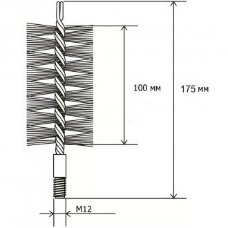 Щетка Savent металлическая для чистки дымоходов и теплообменников