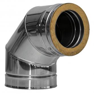 Дымоход для твердотопливного котла нерж/нерж, AISI 321, 1мм