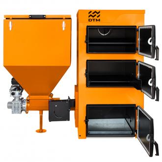 Твердотопливный котел с автоматической подачей топлива DTM IRON 25 кВт