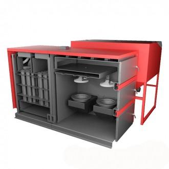Промышленный твердотопливный котел с автоматической подачей KLIMOSZ MAXI 100-200 кВт