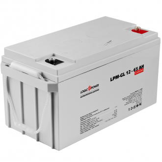 Гелевый аккумулятор LogicPower LPM-GL 12-65 AH