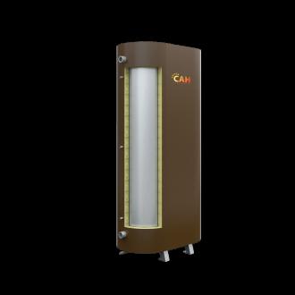 Теплоаккумулятор САН плоский с верхним теплообменником и изоляцией