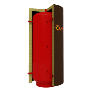 Теплоаккумулятор САН круглый с двумя теплообменниками. Без изоляции.