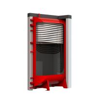 Теплоаккумулятор Kronas плоский. С верхним теплообменником и изоляцией.