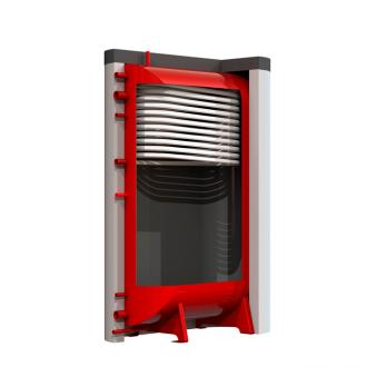 Теплоаккумулятор Kronas плоский с верхним теплообменником и изоляцией