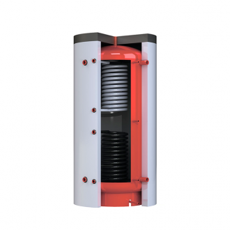 Теплоаккумулятор Kronas круглый с двумя теплообменниками и изоляцией