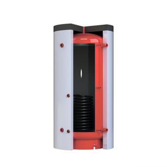 Теплоаккумулятор Kronas круглый, с нижним теплообменником и изоляцией