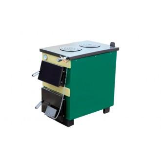 Котел на твердом топливе с плитой Тивер АКТВ 14-18 кВт